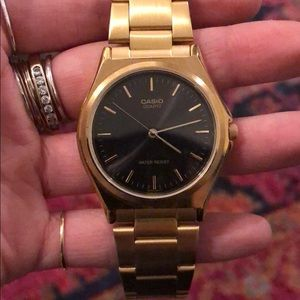 Casio Black and Gold Watch